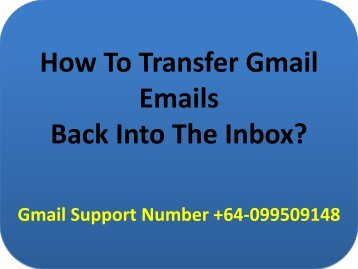 How To Transfer Gmail Emails Back Into The Inbox?