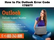 How To Fix Outlook Error Code 17897? 18002430019