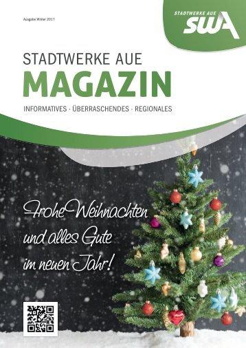 STADTWERKE AUE MAGAZIN  - Ausgabe Winter 2017