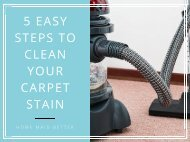 5 Easy Steps to Clean Your Carpet Stain
