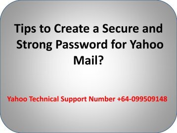 Tips to Create a Secure and Strong Password for Yahoo Mail