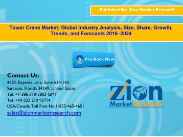 Global Tower Crane Market, 2016–2024