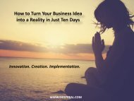 How to Turn Your Business Idea into a Reality in Just Ten Days