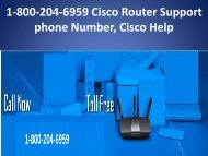 1-800-204-6959 Cisco Router Support phone Number,Cisco Help