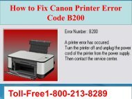 How to Fix Canon Printer Error Code B200 Call 1-800-213-8289