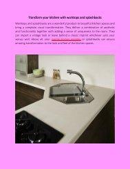 Transform your kitchen with worktops and splashbacks