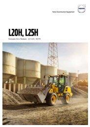 Volvo Kompaktradlader L20H - L25H Datenblatt Produktbeschreibung