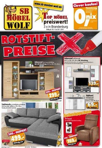 Rotstift-Preise - Top-Möbel richtig preiswert! SB Möbel Wolf 3x in Brandenburg!