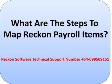 What Are The Steps To Map Reckon Payroll Items?