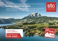 Swiss Coupon Pass 2018 - Deutsch STC