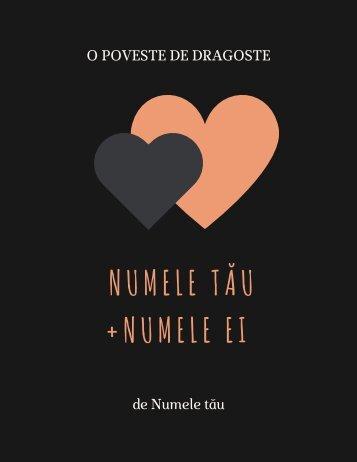 Carte personalizată pentru iubiti