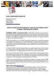A Barix nomeia Frank Frederiksen como Vice-presidente de Es ...