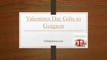 Valentines Day Gifts to Gurgaon