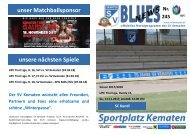 Blues News 245, Abschied in die Winterpause gegen den SC Kundl