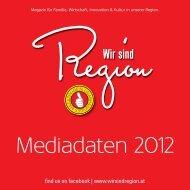 Wir sind Region Mediadaten   2012
