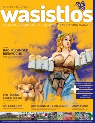 wasistlos Bad Füssing Magazin April 2016