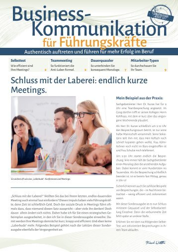 Endlich kurze Meetings