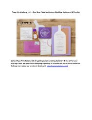 Type A Invitations, LLC. – One Stop Place for Custom Wedding Stationery and Fine Art