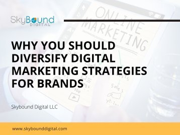 Why You Should Diversify Digital Marketing Strategies For Brands