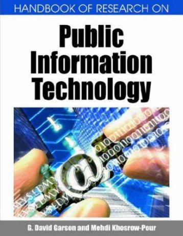 Handbook of Research on Public Information Technology  2008