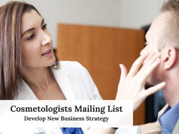 Cosmetologists Mailing List