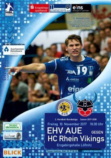 EHV-Post: EHV Aue gegen HC Rhein Vikings