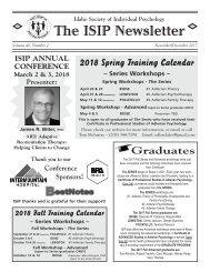 ISIP Nov-Dec 2017 Newsletter