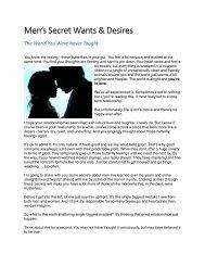 Men's Secret Wants & Desires