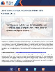 Air Filters Market Production Status and Outlook 2022