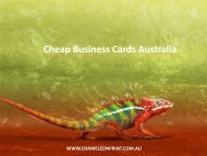 Cheap Business Cards Australia - Chameleon Print Group