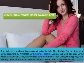 Attractive Chennai Escorts for Enjoyment