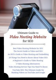Ultimate Guide to Video Hosting Website for SEO