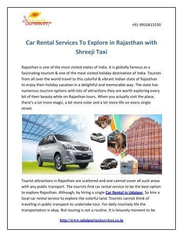 Car Rental Services To Explore in Rajasthan with Shreeji Taxi.output