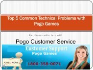 Top 5 Pogo Technical Problems