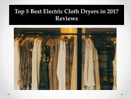 Top 5 Best Electric Cloth Dryers