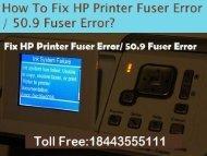 8443555111 How To Fix HP Printer 50.9 Fuser Error