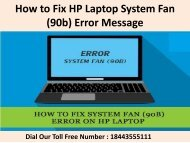 1(844)355-5111 How to Fix HP Laptop System Fan (90b) Error Message