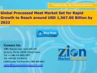 Global Processed Meat Market, 2017 – 2022