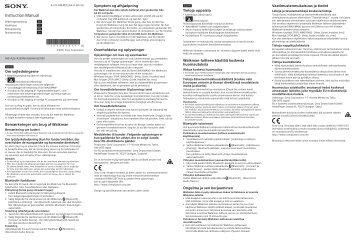 Sony NW-A27HN - NW-A27HN Istruzioni per l'uso Danese