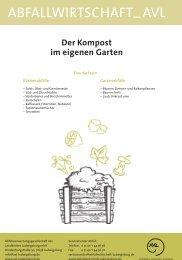 Der Kompost im eigenen Garten - AVL