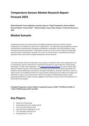 Temperature Sensors Market Research Study and Future Prospects 2023