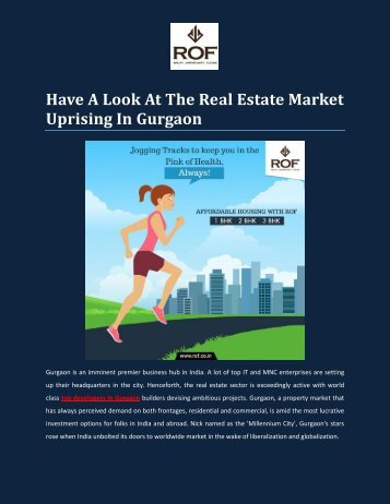 Have A Look At The Real Estate Market Uprising In Gurgaon