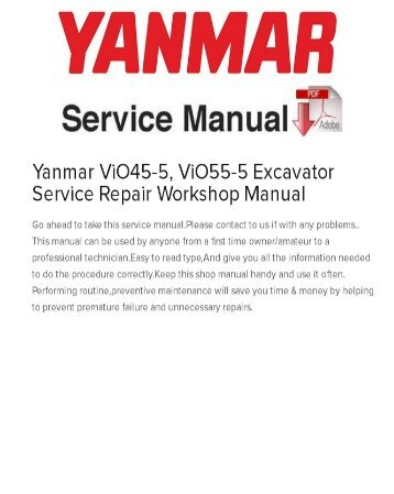 Yanmar Service manual Vio 40 Volt Battery