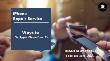 Fix Apple iPhone Error 53