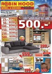 Verlängerung: Weihnachts-Extra-Bonus für Sie! Robin Hood Möbel & Küchen in 78166 Donaueschingen