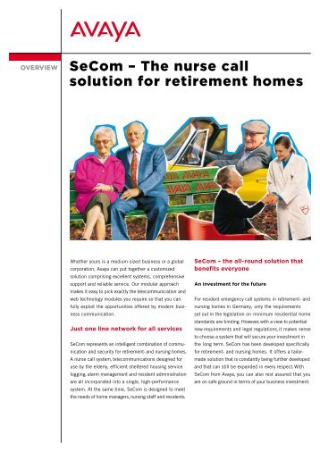 SeCom – The nurse call solution for retirement homes - Avaya