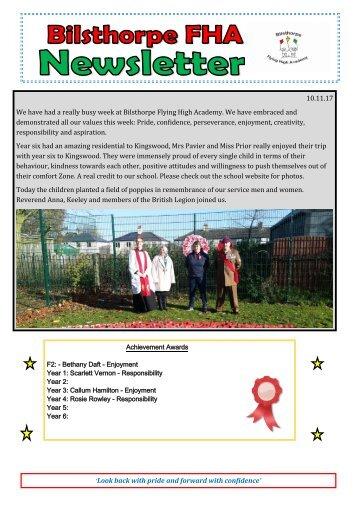 BFHA - Newsletter 7  10.11.17