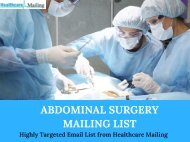 Abdominal Surgery Mailing List
