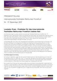 2017-11-08 Louisdor-Preis - Finalisten für das Internationale Festhallen Reitturnier Frankfurt stehen fest