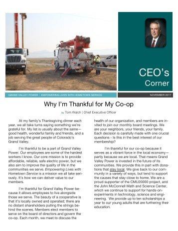 Nov 2017_CEO newsletter